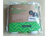Brand New ZiggyBaby 3 Piece Baby Clothes Swaddle Blanket Wrap Bundle Set