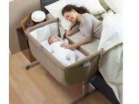 Chicco Next2Me Bedside Crib – Dove Grey