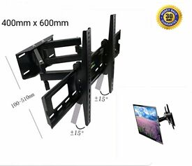 Double Arm Cantilever Bracket Wall Mount with Tilt & Swivel 30-70 inch LCD TV