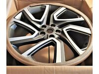 """BRAND NEW GENUINE 22"""" LAND ROVER RANGE DISCOVERY 4/5 5025 ALLOY WHEELS"""
