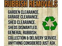 Waste removal service all rubbish clearances garden and house and office man and van same day Tip