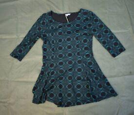 New - Ladies M&S Green/Black Techno Pattern Dress