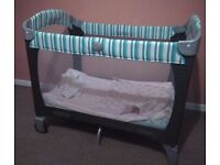 Graco Travel Cot with carry case and mattress. Good working order