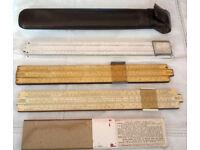 vintage sliding rulers