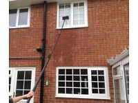 WINDOWS CLEANED USING THE LATEST PURE WATER REACH AND WASH SYSTEM
