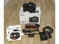 canon EOS EOS 7D Mark II 20.2MP mint condition shutter count is 64 shots was put back in box