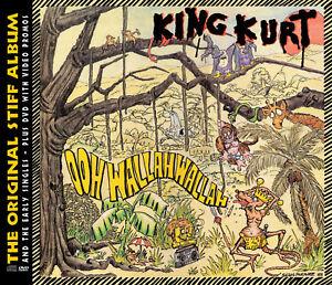 KING KURT 'Ooh Wallah Wallah' + singles CD + DVD promo videos sealed psychobilly