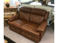 BRAND NEW brown leather sofa