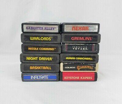 Lot of 12 Atari 2600 games