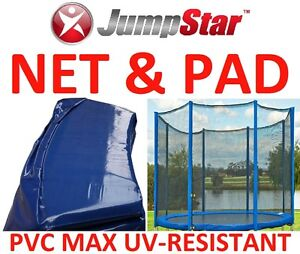 NEW 12 FT Trampoline Replacement  NET & PAD - Max UV-Resistant - Perth WA