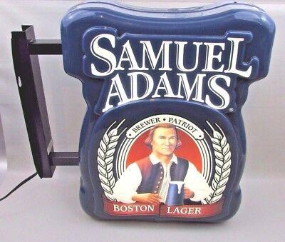 Electric Samuel Adams Boston Lager Everbrite Beer Sign Bar Sam lighted light