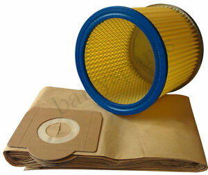 FILTER & DUST hoover BAGS for EARLEX POWERVAC COMBIVAC WD1000 WD1100 WD1200P