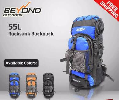 Details about  55L Camping Hiking Travel Backpack RUCKSACK