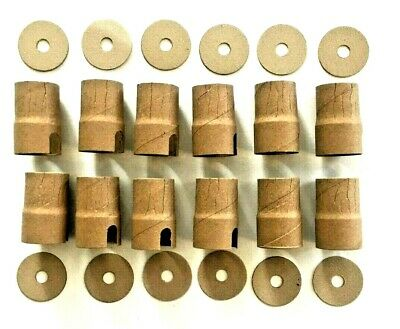 12 FAT BOY LAMP SOCKET LINERS & CAP INSULATORS. Antique & Vintage Lighting Parts