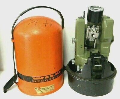 Wild Heerbrugg Theodolite Switzerland T16 Survey Transit Equipment Vintage 2