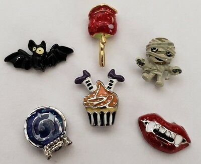 ORIGAMI OWL HALLOWEEN BAT CANDY APPLE WITCH MUMMY VAMPIRE LIP CRYSTAL BALL CHARM (Halloween Candy Apple)