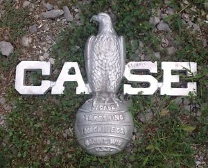 Cast J.I. Case Eagle Plaque Steam Engine tractor 900 700 800 antique toy sign