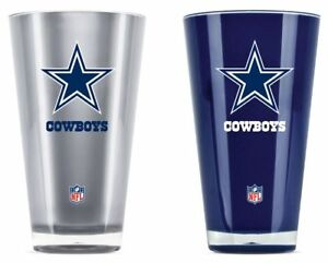 Dallas Cowboys 20oz Insulated Tumbler 2 Pack Set Beer Drink Soda NWT