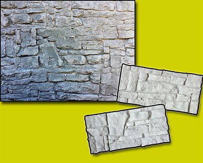 2pcs Set Silicone Stamps Vertical Stone Texture Imprint Wall Design Concrete Mat