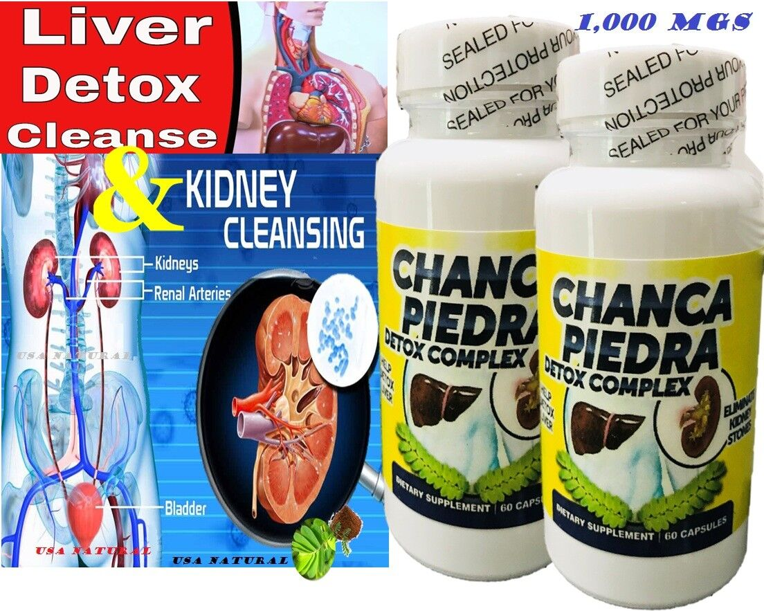 Liver and Kidney Cleanse, Liver Detox, Kidney Cleanse 1000 mg 120 capsules detox