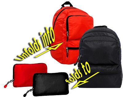 *BEST SALE*  BLACK Backpack TRAVEL Folding Convertible Packable Packing Bag (Best Pack Backpacks)
