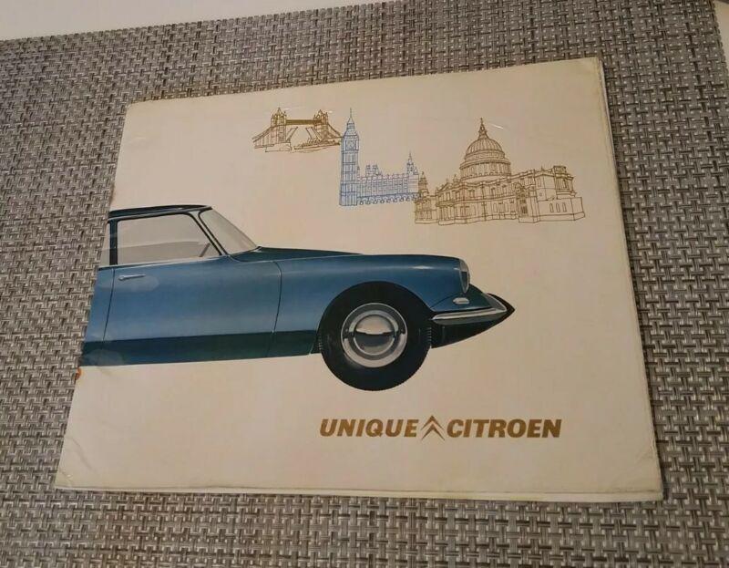 Vtg Rare UK 1963 Citroen DS iD Safari Decapotable Auto Car Dealer Sales Brochure