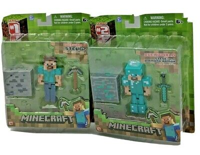 Minecraft Overworld Steve action figure Series 1 and 2 New in Box