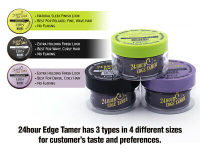 Ebin New York 24 Hour Edge Tamer Edge Control Hair Gel Wax Pomade - 3 Types