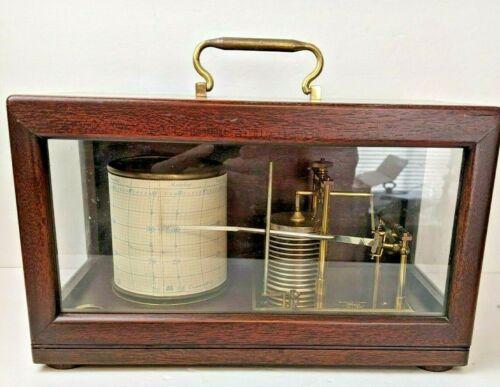 Antique Short & Mason Mahogany No I 7567 Barograph Recording Barometer London