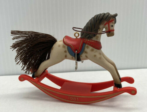 Hallmark 1981 ROCKING HORSE * 1st In Series * Ornament QX-4222 ** USED ** NO BOX