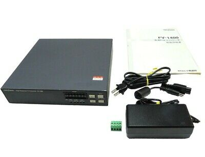 ONO SOKKI FV-1400 High-speed F/V converter with accessories