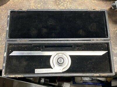 Starrett 359 Precision Universal Bevel Vernier Protractor 12 Blade Parts Or Rep