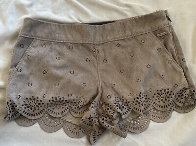Abercrombie Kids Girls Fancy Shorts Size 8 Gray