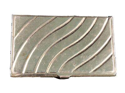 Vintage Business Card Holder - Silver Tin