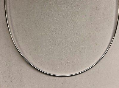 White Gold Round Omega Chain - 14kt White Gold Round Omega 1.50mm , 7 grams 18
