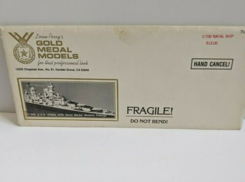 NAVAL SHIP 1:700 Gold Medal Models Metal Ship details envelope instructions boat