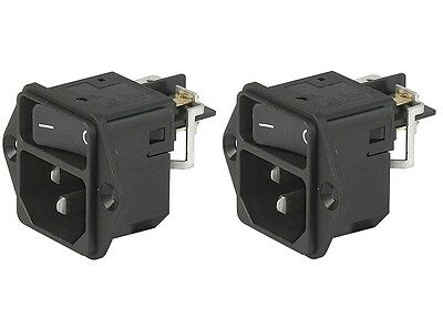 Schurter DD12.8111.111 Male Power Entry Module Fuse Holder New