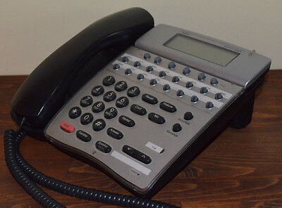 Nec Dterm 80 Telephone Dth-16d-2bktel 780575 Black Lcd Tested 1 Year Warranty