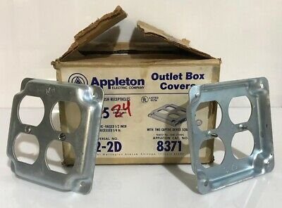 Appleton 8371 Outlet Box Covers For Two Duplex Flush Recepticles