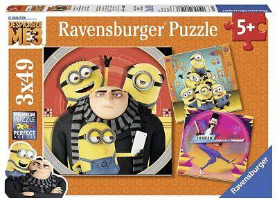 Ravensburger Minions 3x49 Puzzle Despicable Me Ich einfach Stuart Bob Gru