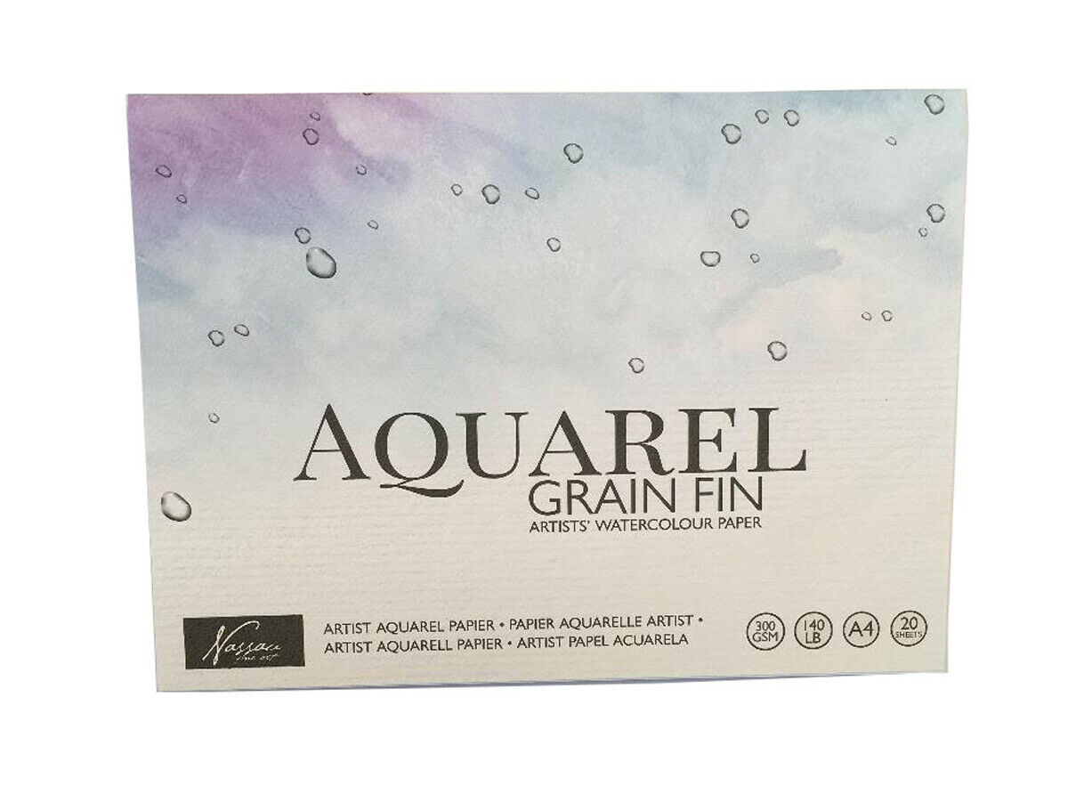 Aquarellpapier Block A4, 300 Gramm 20 Blatt 21CM x 29,7 CM Zeichenblock Malblock