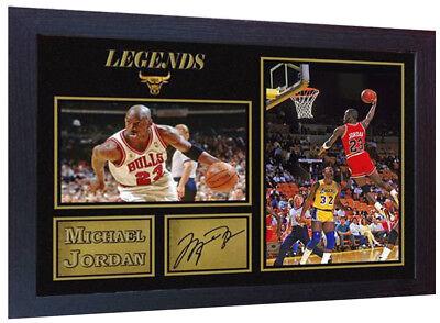 Michael Jordan NBA signed autograph Basketball Memorabilia Chicago Bulls Framed