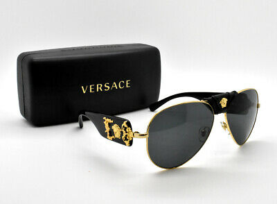 Authentic VERSACE Runway Gold Medusa Havana Aviator Sunglasses VE 2150Q 1002/87