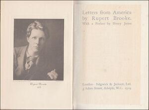 Rupert-Brooke-LETTERS-FROM-AMERICA-Boston-NEW-YORK-Niagara-CANADA-Indian-ROCKIES
