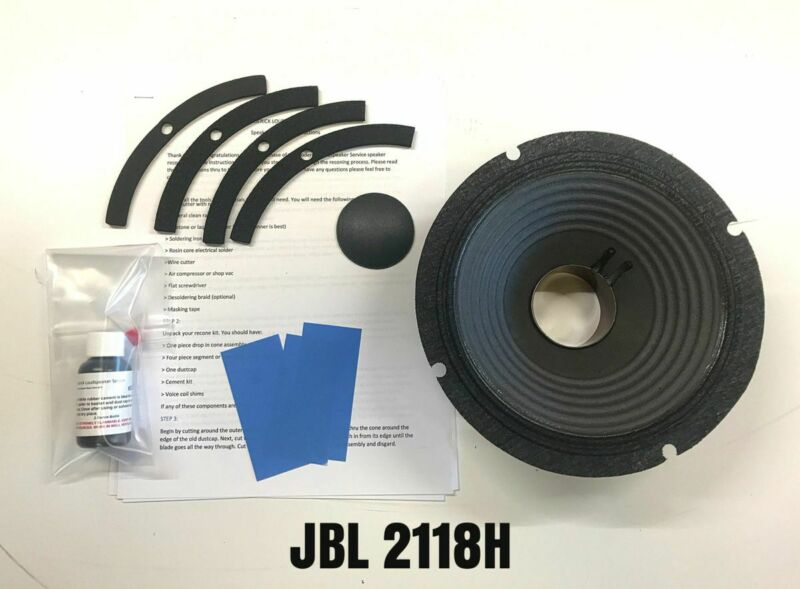 """Reproduction One Piece Recone Kit for JBL 2118H 8"""" Loudspeaker"""