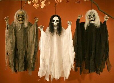 Scary Hanging Grim Reaper Skull Skeleton Haunted Decoration Halloween Decor