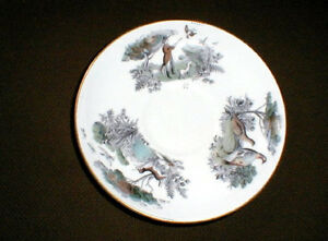Royal-Worcester-Very-Important-Person-PHEASANT-HUNTING-Jumbo-Saucer-loc-sau38