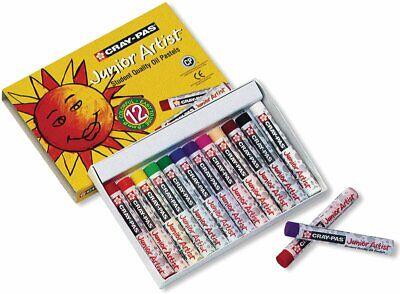 Sakura Cray Pas Junior Artist Oil Pastels Assorted Colors Set Of 12  - Cray Pas Oil Pastels
