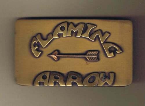 Flaming Arrow Reservation Arrow Left Belt Buckle Cs