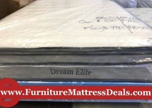 "NEW King Size 76""x78"", 13"" Thick Pillow-top Mattress only $750"